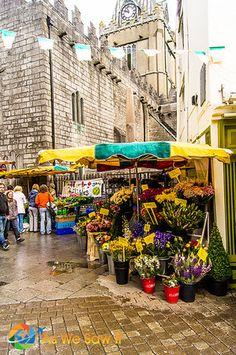 Pedestrian flower market in Galway Ireland Travel Around The World, Around The Worlds, Claddagh Rings, Flower Stands, Flower Market, Ultimate Travel, Germany Travel, Places To Travel, Travel Photos