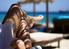 beach, book, and a tan
