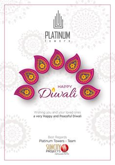 Suncity Platinum Towers wishes you a Happy and prosperous Diwali. Diwali Wishes, Happy Diwali, 3/4 Beds, Towers, Crochet Earrings, Create, Projects, Log Projects, Blue Prints