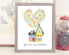 """8x10"""" You Are My Adventure - Up Disney Movie Inspired - Romantic Home Decor - Adventure is Out There - Carl and Ellie - Printable Poster on Etsy, $5.00"""