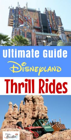 Wondering if there's anything thrilling at the Disneyland Parks? Check out this guide to the thrill rides at Disneyland including tips for mini-thrill seekers, anti-nausea advice and how to please everyone from preschool to adult! #Disneyland