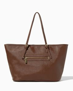 charming charlie | Saffiano Faux Leather Tote | UPC: 410006914438 #charmingcharlie
