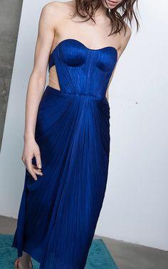 Ishtar Silk Midi Dress by MARIA LUCIA HOHAN for Preorder on Moda Operandi