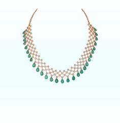 Diamond Chandelier Earrings, Diamond Necklace Set, Emerald Necklace, Diamond Drop Earrings, Diamond Jewellery, Bridal Necklace Set, Sparkling Stars, Green Gemstones, Trendy Jewelry