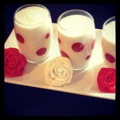 Vanilla & strawberry pots