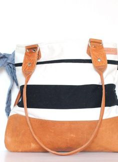 Love: Cyndi {Stripes & Chambray Bow} | Better Life Bags
