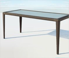Rattan Dining Table   Professionally Woven For A Flawless Finish