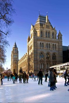 Ice Skating at the Natural History Museum Ice Rink, Pista, History Museum, Ice Skating, Natural History, Barcelona Cathedral, Dates, Building, Nature