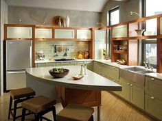 I really like the openness of this kitchen.  Kitchen Updates That Pay Back - Traditional Home®
