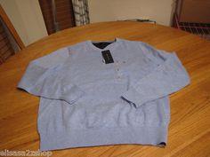 Men's Tommy Hilfiger long sleeve sweater shirt v neck XL cloud heather blue 501
