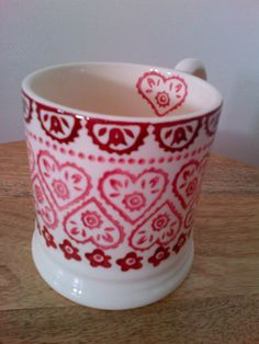 Emma Bridgewater Sampler SAMPLE 0.5 Pint Mug.  Heart pattern mug