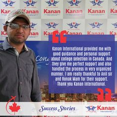 Dhruval Patel congrats on receiving your #studentvisa for #Canada!  Wish you the best for the future.  www.kananinternational.com