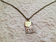 Cleveland Ohio Necklace CLE Necklace Cleveland by DaydreamingAway