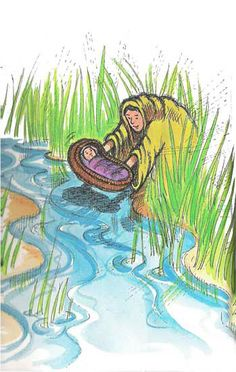 Remembering Moses' Mama Months) - Happy Home Fairy Bible Stories For Kids, Bible For Kids, Bible Crafts, Bible Art, Exodus Bible, Happy Home Fairy, Baby Moses, Islam For Kids, Class Pictures