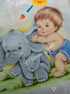 Baby Painting, Eye Painting, Fabric Painting, Artist Painting, Cute Paintings, Animal Paintings, Cute Baby Pictures, Vintage Pictures, Baby Sketch