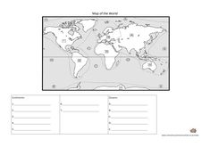 Assalamu'alaikum wr wb, This worksheet is all about the Continents and Oceans of the world. Learn where each Continent and Ocean is located by colouring this worksheet. According to Wikipedia, a continent is one of several very large landmasses on…