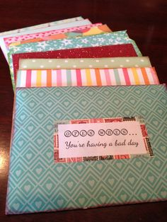 """10 """"Open When"""" Letters. Perfect gifts for your significant other! Especially when in a long distance relationship."""