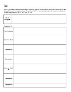 Basic essay outline Prezi Short Story Essay Notes    Sentence Paragraph  Suggested Outline for an     sentence Schaffer