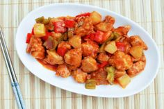 Sweet and Sour Chicken - Used frozen popcorn chicken to make it even easier.  @ http://myrecipemagic.com/recipe/recipedetail/cake-mix-cookies-secret-recipe #cake #cooking #recipe