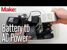 Convert Battery Powered Electronics to Run on AC