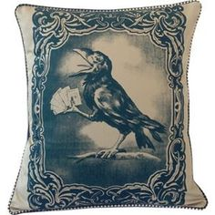 Crow Card Player Pillow – spitfiregirlrocks