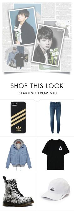 """""""We Gamble With Desire // JUNGKOOK"""" by taeangel ❤ liked on Polyvore featuring Vanity Fair, Oris, adidas, J Brand, Chicnova Fashion, Dr. Martens, living room, bedroom, kpop and bts"""