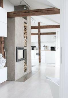 Interieurideeën   Wit, beton en prachtig oud hout! Door martinevanassen