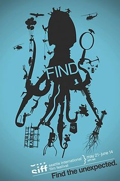 "NON-Seattle International Film Festival ""Find"" posters Festival Posters, Art Festival, Seattle International Film Festival, Jazz, Cannes Film Festival 2015, Design Poster, Print Design, Communication Art, Poster"