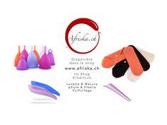 Erhältlich im Afriska-Shop! Disponibles dans le shop Afriska! #lunette #lunacopine #lunettecup #rubycup #meluna #mooncup #meluna #menstrualcup #coupemenstruelle #menstruationstasse #purpurtage #clothpads #bandeshygiéniques #Stoffbinden #pstyle #pibella #urinatingdevice #pipidebout #urinierhilfe #sponges #epongettes #naturschwamm #physiotab
