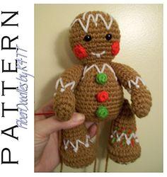 CP02 Gingerbread Man - Free Crochet Pattern by @_K4TT_   Featured at Fiber Doodles by K4TT - Sponsor Spotlight Round Up via @beckastreasures   #fallintochristmas2016 #crochetcontest #spotlight #crochet #roundup