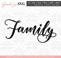 family svg, home svg, motivational svg, home decor svg, DxF, EpS, Quote SVG, Cut File, Cricut, Silhouette Instant download, Iron Transfer Word Tattoos, Meaning Tattoos, Family Is Everything Quotes, Wedding Quote, Silhouette Cameo Machine, Cover Tattoo, Word Families, Silhouette Projects, Svg Files For Cricut