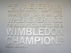 Goran Ivanisevic Quote- the only man to win the title with a wild card