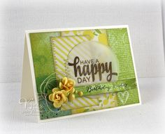 Birthday card by Julee Tilman using Be Blessed from Verve.  #vervestamps