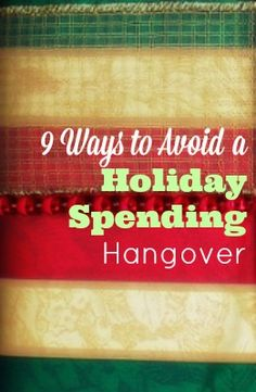 The holidays are just around the corner- do you have a holiday budget already planned? Check out these 9 ways to avoid a holiday spending hangover- and save your wallet some stress :-)