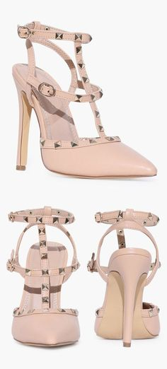 Cage Studded Pump in Blush ♥