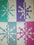Artsonia Art Exhibit :: Positive/Negative Snowflakes