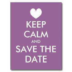 Behalten Sie ruhigen Save the Date Postkarte
