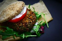 another black bean quinoa burger. say no to bread crumbs!