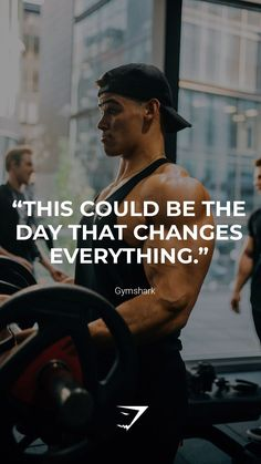 """This could be the day that changes everything."" - Gymshark. Save this to your motivation board for a reminder! #Gymshark #Quotes #Motivational #Inspiration #Motivate #Phrases #Inspire #Fitness #FitnessQuotes #MotivationalQuotes #Positivity #Routine #HealthyMindset #Productive #Aspiration #Wellness #LifeGoals"