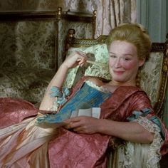 "Glenn Close as marquise de Мerteuil in ""Dangerous liaisons"" Closer Movie, Oscar Winning Movies, Dangerous Liaisons, Greatest Villains, 18th Century Costume, Princess Aesthetic, Romance, 18th Century Fashion, Movie Costumes"