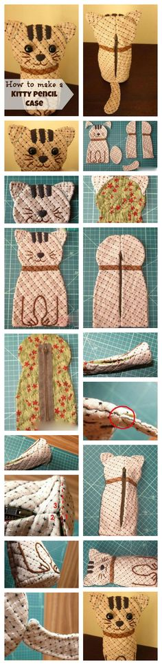 How to Craft a Kitty Pencil Case