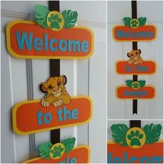 Lion King Welcome Door Sign Lion King Door by UnmatchedEventDesign Lion Birthday Party, Lion King Birthday, Baby Boy 1st Birthday, First Birthday Parties, Birthday Party Themes, Birthday Ideas, Lion King Nursery, Lion King Theme, Lion King Party