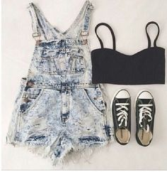 HIPSTER OVERALLS CONVERSE CROP