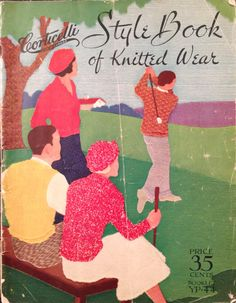 Corticelli Style Book of Knitted Wear c1930s