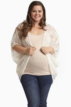 possible option wear over sleeveless maxi dress....PinkBlush Maternity - Plus Sizes