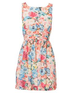 Quirky Circus By Mink Pink - Watercolour Dress 37.50