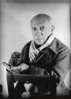 Picasso with an owl.