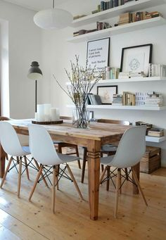 home design Da mir mein Esstisch - home Dining Room Walls, Dining Room Design, Dining Area, Dining Table, Dining Room Shelves, Ikea Dining Room, Dining Room Office, Dining Room Picture Wall, White Dinning Table