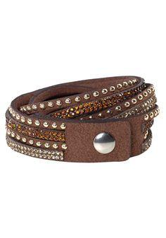 Produkttyp , Armband, |Material , Synthetik, |Nickelfrei , Ja, |Farbe , braun, |Muster , Glänzend, |Verschlussart , Druckknopf, |Gravurmöglichkeit , Nein, | ...