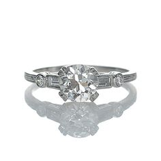 New York, NY Jewelry, engagement rings - Leigh Jay Nacht - Replica Art Deco Engagement Ring - 3050-04